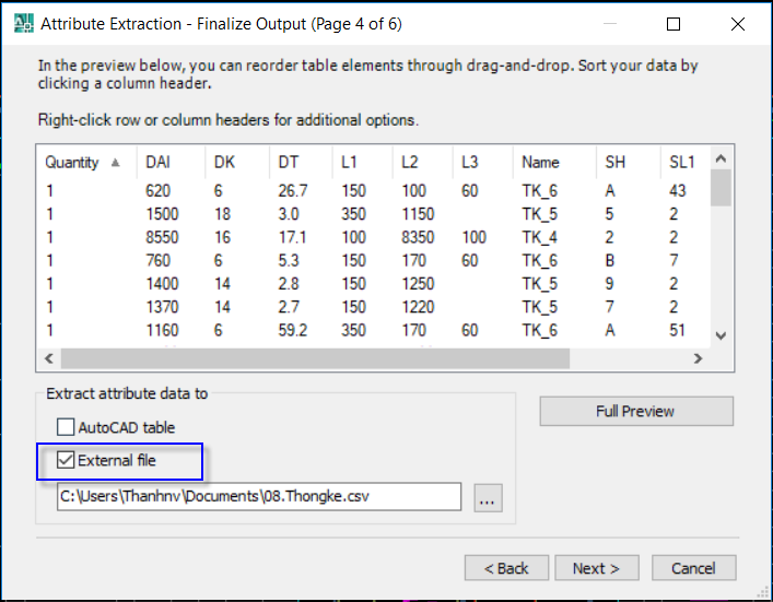 Autocad Data Extraction To Excel